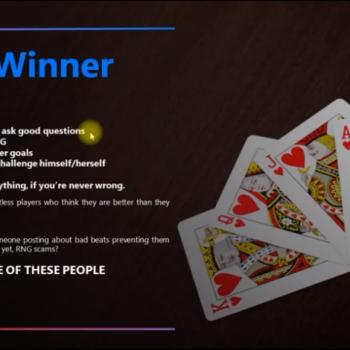 winning poker